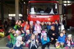 Wycieczka grupy 0a do Straży Pożarnej